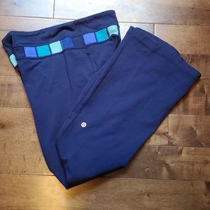 Lululemon colour-block blue yoga pants